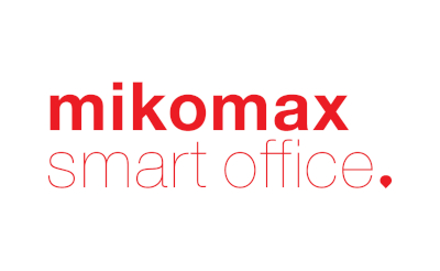 Czerwony napis mikomax smart office