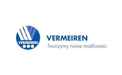 Na obrazku widnieje ciemno-niebiskie logo Vermeiren Tworzymy nowe możliwości!